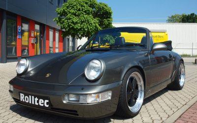 PORSCHE 964 Cabriolet – Platinmetallic